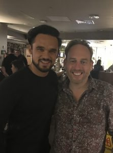 Jamie with Gareth Gates.