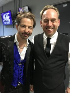 Jamie with 80's legend Limahl