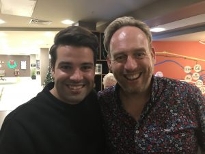 Jamie with Joe McElderry