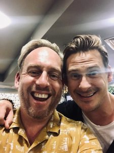 Jamie with Lee Ryan