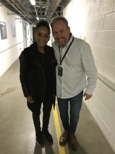 Jamie with Adele at Leeds first direct arena.