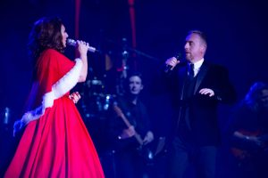 Jamie performing a duet with Jane McDonald