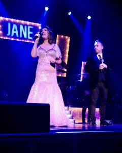 Jamie dueting with Jane McDonald